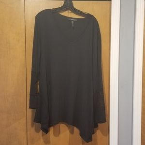 Style & Co black blouse with lace details XXL